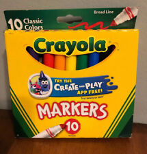 Crayola Markers Classic Color 10 Pack Nontoxic Broad Line Back To School NEW