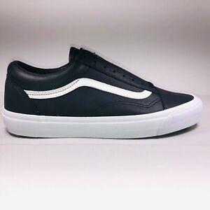 VANS OG Old Skool Vault Leather Black White Shoes Size 11.5 VN000VOJ1NS
