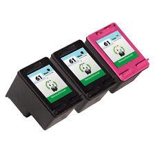 3 Pack HP 61 Ink Cartridge - Deskjet 1000 Deskjet 1050 Deskjet 2050 Printer