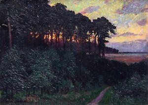 E. Reich-Münsterberg *1866 Ölgemälde antik Romantik Impressionismus Landschaft