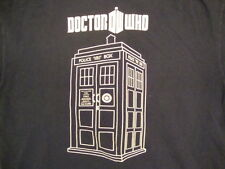 Doctor Who British Sci Fi TV Show Fan Tardis Picture Navy T Shirt M