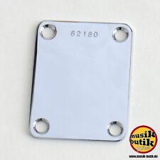 Halsplatte mit Seriennummer chrom NPSRC