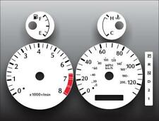 Fits 2000-2002 Infiniti G20 No Screw Holes Instrument Cluster White Face Gauges