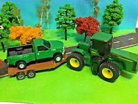 JOHN DEERE, Farm Set, ERTL, Farm Toy Tractor, Truck & Trailer, TOMY Licensed