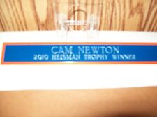 Cam Newton 2010 Heisman Trophy Winner 1 x 7 inch metal Name Plate Blue/Orange