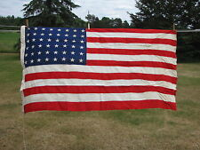 VINTAGE UNITED STATES OF AMERICA FLAG 48 STAR 3X5 EVERWEAR BUNTING