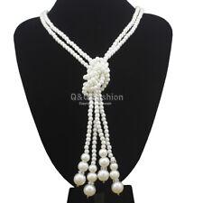 Art Deco 1920s 30s Flapper Layers Pearls Gatsby Costume Bridal Bib Necklace