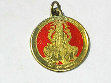 LAXMI Lakshmi & SHREE YANTRA 24 carat gold plated token COIN INDIA FOR GOOD LUCK