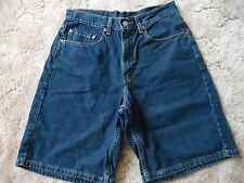 """Mens 32 Levi's 550 Relaxed Fit Blue Denim Shorts 9 1/2"""" Inseam"""