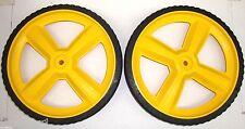 [MUR] [7105711YP] (2) Murray Briggs Stratton 12X2 Yellow Mower Wheels 7101708MA