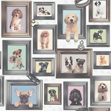 NEW RASCH PUPPY LOVE DOGS IN FRAMES WALLPAPER DESIGN 272703