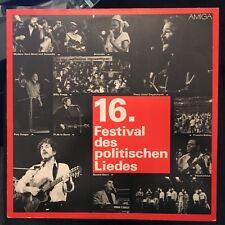 LP 16.Festival des politischen Liedes * AMIGA DDR
