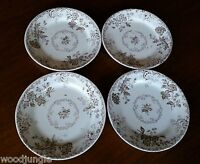 4 Antique 1880s PB&S CHELSEA SALAD PLATES POWELL BISHOP & STONIER ENGLAND NICE!