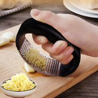 Stainless Steel Manual Garlic Press Crusher Squeezer Tools Masher Kitchen Kits