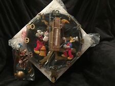 """Disney Mickey Mouse Animated Talking Wall Clock Rare """"Clock Cleaners"""" KNG"""