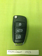 Audi style Peugeot/Citroen 207 308 407 c4 c5 c3 3 Button Remote Flip Key CE0523