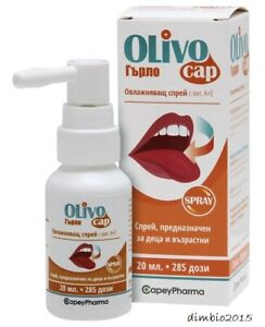 OLIVOCAP Moisturizing Throat Spray with vit.A+E,Natural product,for Adult &Kids