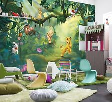 GIANT Photo Wallpaper Mural Poster LION KING JUNGLE Girls Boys Bedroom 368x254cm