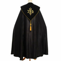 Catholic Church Cape Vestment Cope Priest Liturgical IHS Embroidery Vestment