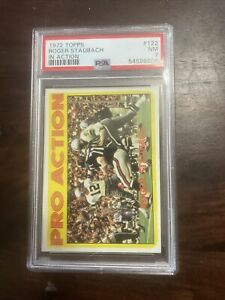 1972 ROGER STAUBACH PSA 7 ROOKIE 'TOPPS IN ACTION  HOF Dallas Cowboys
