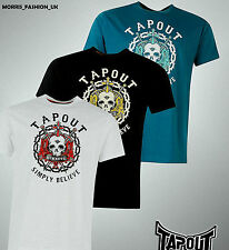GUYS New Branded Tapout Large Printed Logo Short Sleeves T Shirt Top Size S-XXXL