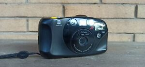 Minolta Riva Zoom Pico 35mm with CASE Point Shoot Film Camera TESTED and working