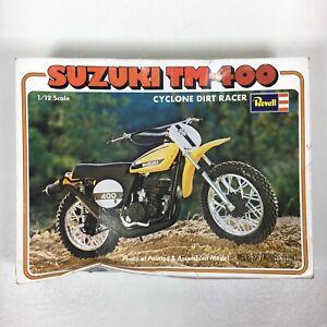 Revell Suzuki TM-400 Cyclone Dirt Racer Bike 1/12 Scale Model Kit H-1512 • read