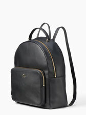 Kate Spade Nicole Larchmont Avenue Black Leather Backpack Wxru5499