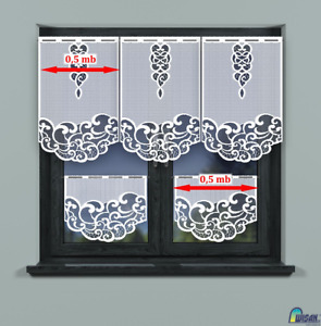 New Kitchen Curtains Cafe Net Curtain Lace White Sold By the panels zazdrostki