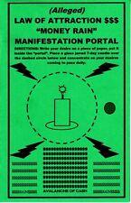 "alleged LAW OF ATTRACTION ""MONEY RAIN"" manifestation portal spell magick"
