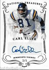RARE CARL ELLER SIGNED 2014 PANINI NATIONAL TREASURES CARD~3/5~FOOTBALL HOF AUTO