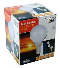 Solarleuchte Kugel in weiß mit 4 LED´s  Wegbeleuchtung
