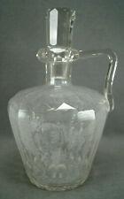Antique Bohemian 8 1/2 Inch Cut Crystal Whiskey Jug Circa 1870