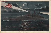 Postcard Ship USS Michigan