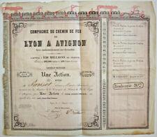 ACTION CHEMIN DE FER LYON AVIGNON 1847 ROTHSCHILD FRÈRES. RARE.