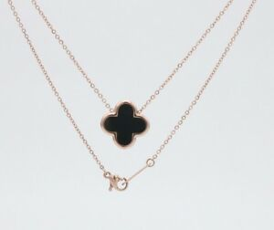 """16"""" Stainless steel Shell Rose Flower Gold Pendant Necklace Gift Box 13mm PE7"""