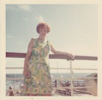 1960's WOMAN Lady FOUND PHOTO Color FREE SHIPPING Original Snapshot VINTAGE 93 1