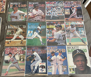 Beckett Baseball Card Monthly 1989 Complete Year Set. Mint Condition In Sleeves!