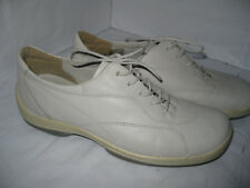 Clarks Springers Mens White Leather Lace up Shoes Size UK 6