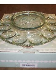 Longaberger 2001 Glass Egg Plate - Made in Usa.- Nib