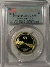 "2011-S Proof Sacagawe Native American Golden Dollar PCGS PR69DCAM ""First Strike"""