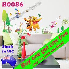 Wall Sticker Decal Winnie Tiger Pig Donkey Rabbit Nursery kids room decor B0086