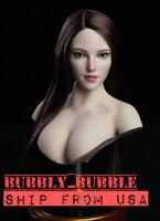 """1/6 Female Head Sculpt SDH018 C For TBLeague PHICEN Pale 12"""" Figure Poptoy☆USA☆"""