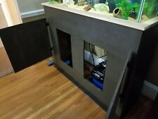 New listing 49 Gallon Long Aquarium, Custom built wood stand. Lids included.