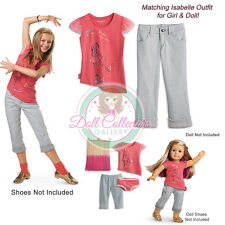 American Girl CL LE ISABELLE SET MEET OUTFIT for Girl & Doll LARGE 16 Tee NEW