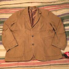 Duluth Trading Co Safari Chore Camvas Blazer Jacket Coat XL