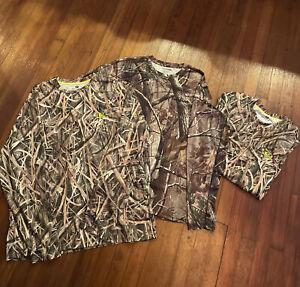 2 Mossy Oak & 1 Real Tree 3 total Dri Fit Long Sleeve Shirt XL