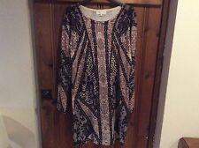 Ladies Designer Cristina Paris Bodycon Spandex Sparkly Knit Dress Size 14/16 New