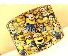 Minion inspired 1.5 inch grosgrain ribbon 3 yds hair bows  **CHELLE**