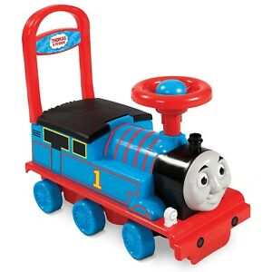 Thomas & Friends Train Engine Ride-On Toy Cart Fun & Colourful Designs 3D Face